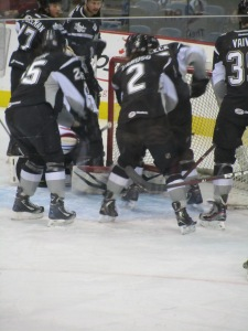 The San Antonio Rampage warm up before a game (Photo by Amanda Land).