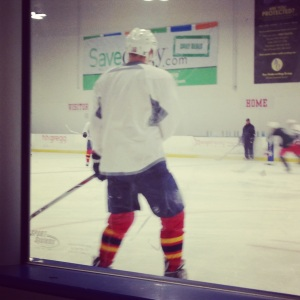 Barkov skates with teammates for first time